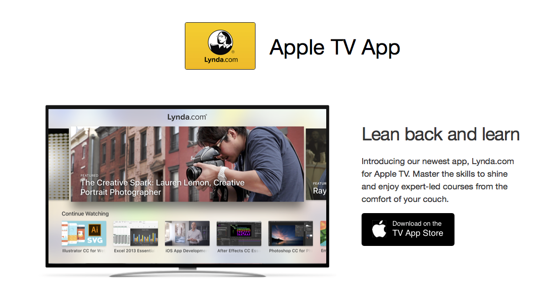 Lynda com and Pluralsight Apple TV apps | Meanderings of an Artist